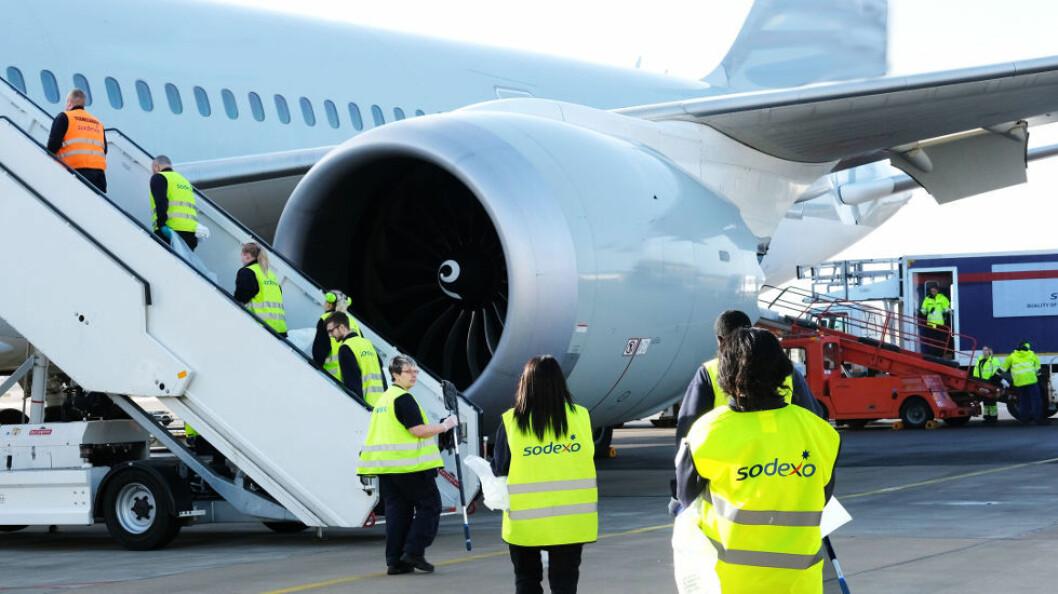 Oppdraget omfatter flyrenhold og andre nærliggende tjenester for SAS. (Foto: Sodexo)