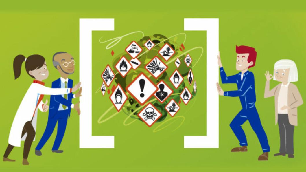 Faksimile fra Healthy Workplaces Campaign – Manage Dangerous Substances. (Ill.: EU-OSHA)