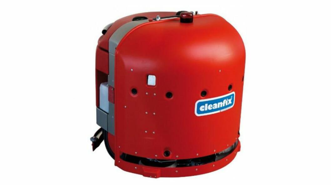 Cleanfix kom på markedet med automatiske gulvvaskere allerede i 2009. Deres nyeste versjon har navnet RA660 Navi. (Foto: Produsenten)