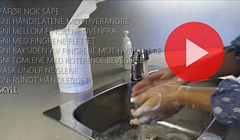 Slik vasker du hendene skikkelig