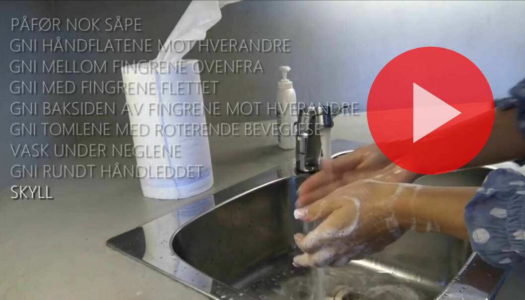 IFI.no har laget en 11-trinns oppskrift på grundig håndvask.