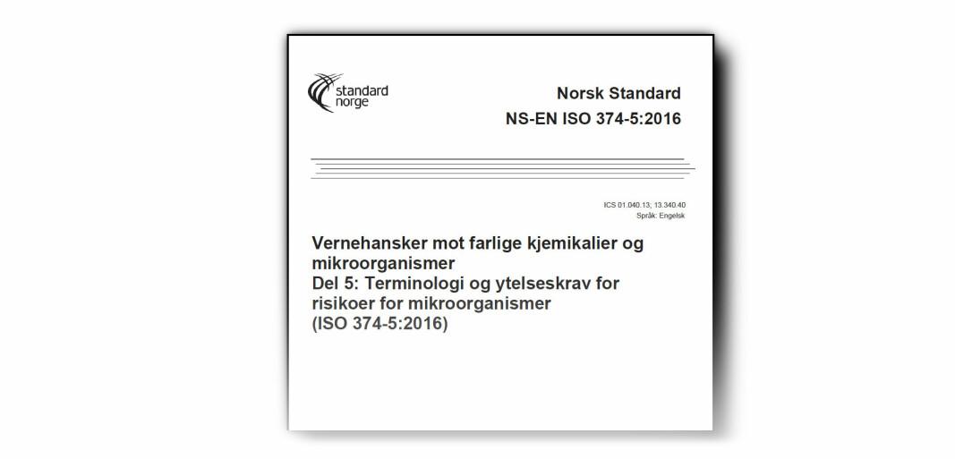 Standarder for vernehansker, engangshansker og øyevern er blant det Standard Norge har gjort tilgjengelig kostnadsfritt.