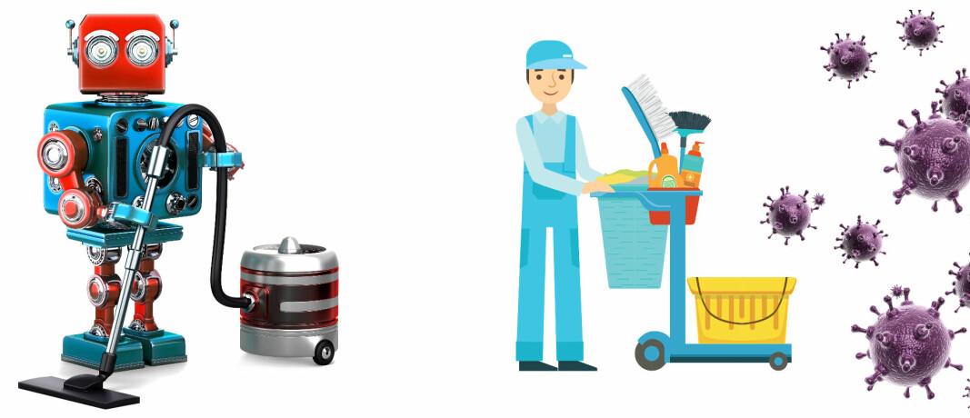 Mange ansatte må nå bruke mer tid enn før på desinfisering og andre oppgaver. Her kan renholdsroboter avlaste ved å ta store rutineoppgaver som gulvrenhold.