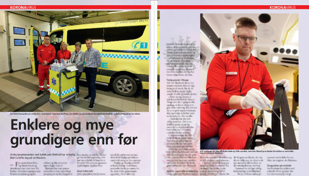 I det kommende Renholdsnytt nr. 2/2020 kan du lese om et omfattende prosjekt som Sykehuset Østfold påbegynte sammen med Vileda i 2019, rundt opplæring, utføring og kvalitetssikring av renhold og desinfisering i ambulanser.
