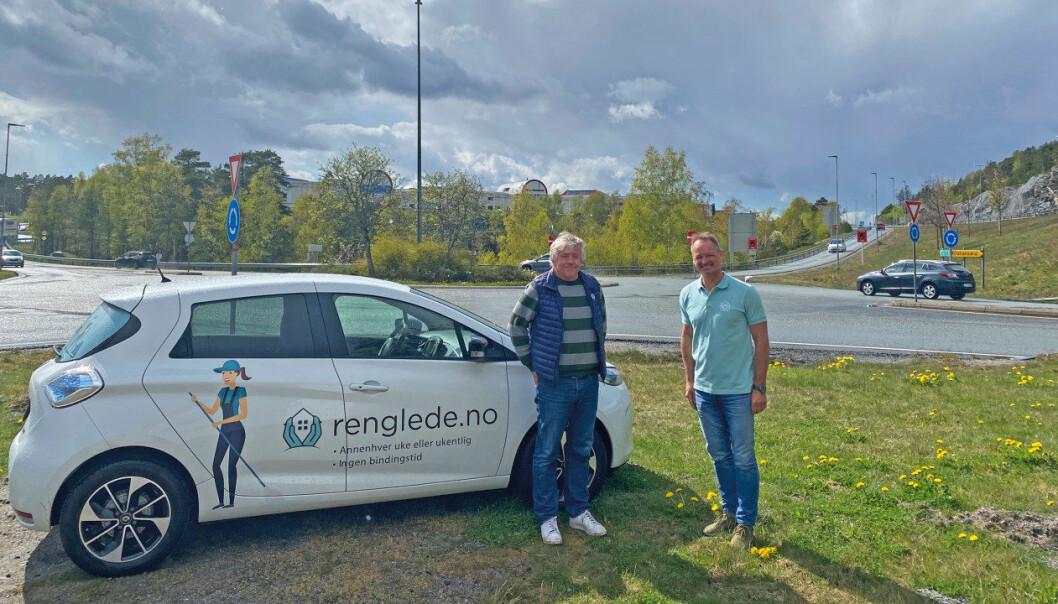 Åsmund Nyhus (tv) er daglig leder i SALIS bedriftshelsetjenester og Geir Nilsen er daglig leder i Renglede.no AS.