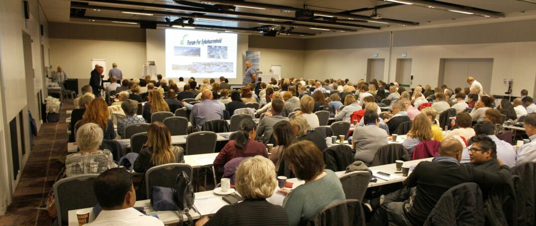 Seminar for sykehusrenhold er en av årets store konferanser for renholdsledere og har vært arrangert hvert år siden 1997. I 2020 skulle det vært avholdt for 24. gang. Her fra et tidligere seminar (2016).