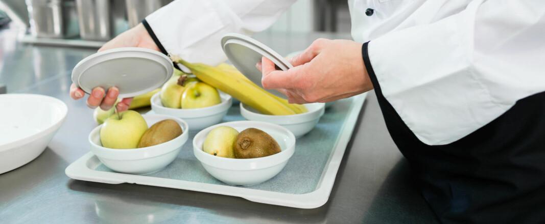Lunsjen serveres i porsjoner fra Sodexos personale (illustrasjonsbilde).
