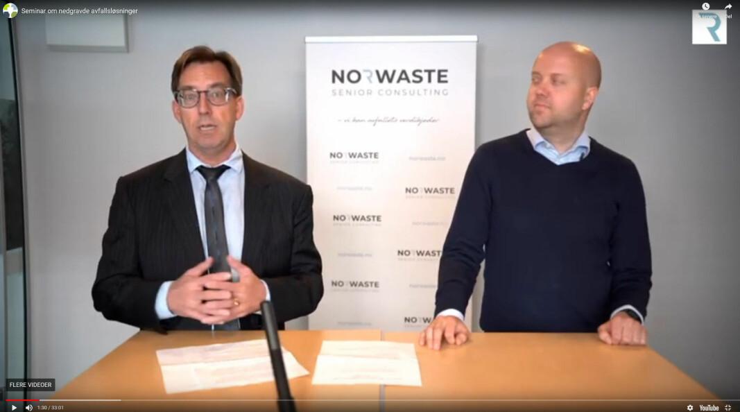 Rune Aale-Hansen og Fridtjof Denneche fra NKF er blant dem som gir tips rundt avfallsløsninger.