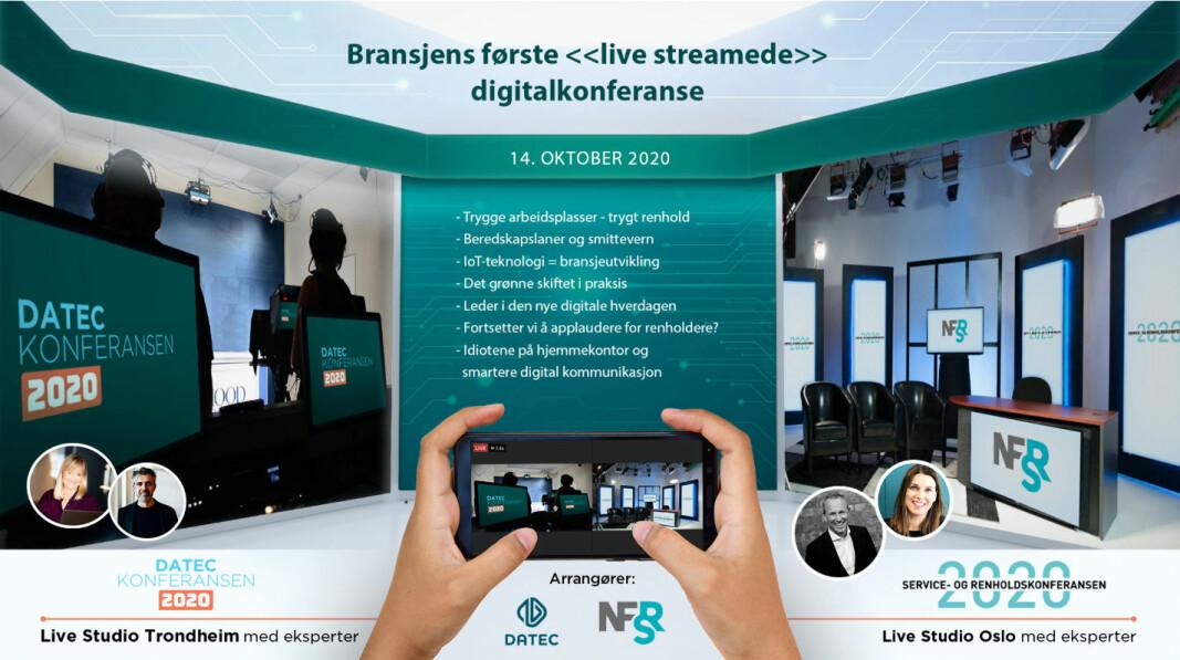 NFSRs og Datecs fysiske konferanse i Bergen 8-10/9 erstattes av en omfattende digital konferanse 14. oktober.