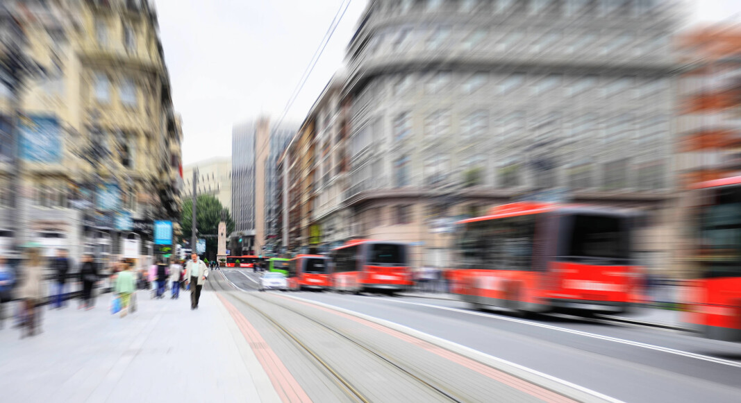 Busser er blant det som må rengjøres mange ganger daglig, mener Aspel, bransjeforening for kontraktsrenhold i Spania. Bildet er tilfeldig valgt av illustrasjonshensyn og viser kollektivtrafikk i Bilbao i Spania.