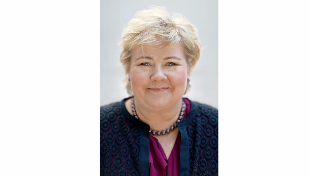 Statsminister Erna Solberg benyttet anledningen til å hylle renholderne for jobben de gjør