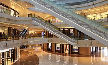Hvor er det flest bakterier i kjøpesentre?