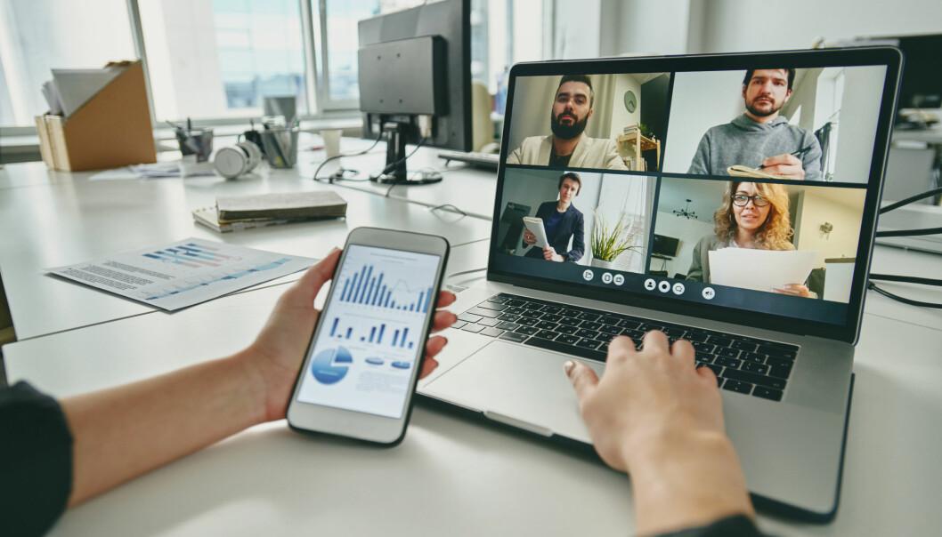 Videomøter er godt egnet for å holde kontakt mellom medarbeiderne, men pass på at de ikke trekker ut i langdrag.