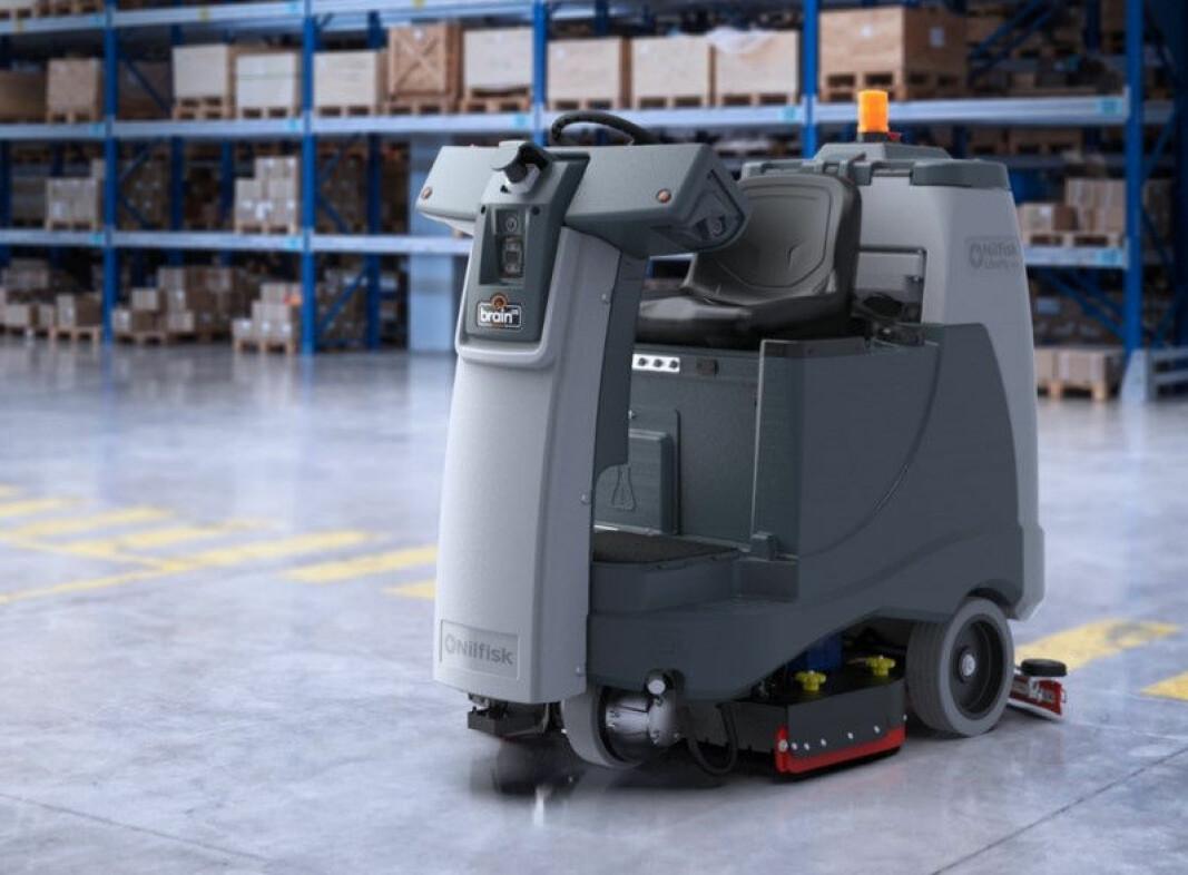 Nilfisks nye robot Liberty SC60 kan også brukes som en sittebil, for eksempel for å lære roboten omrisset av lokalet.