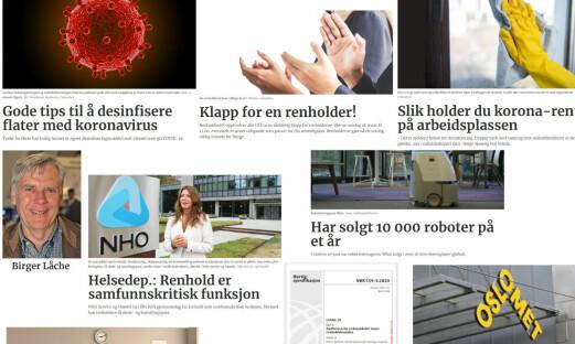 Mest populært på Renholdsnytt.no i 2020