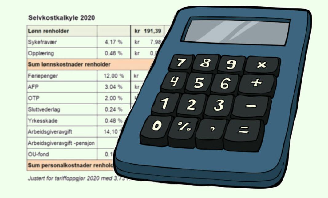 Varselklokkene bør ringe dersom du etter 1/9-2020 har fått inn et pristilbud som ligger under kr 269,83 eks. mva. pr time fra en virksomhet.