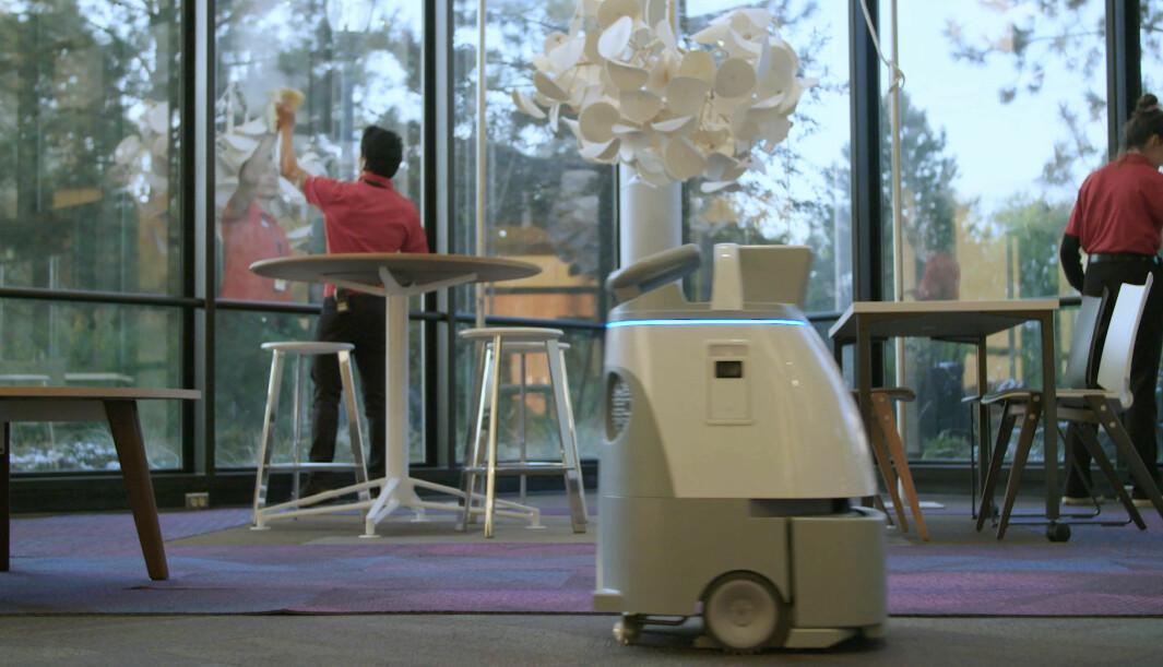 Whiz er foreløpig én av få robotstøvsugere til profesjonell bruk.