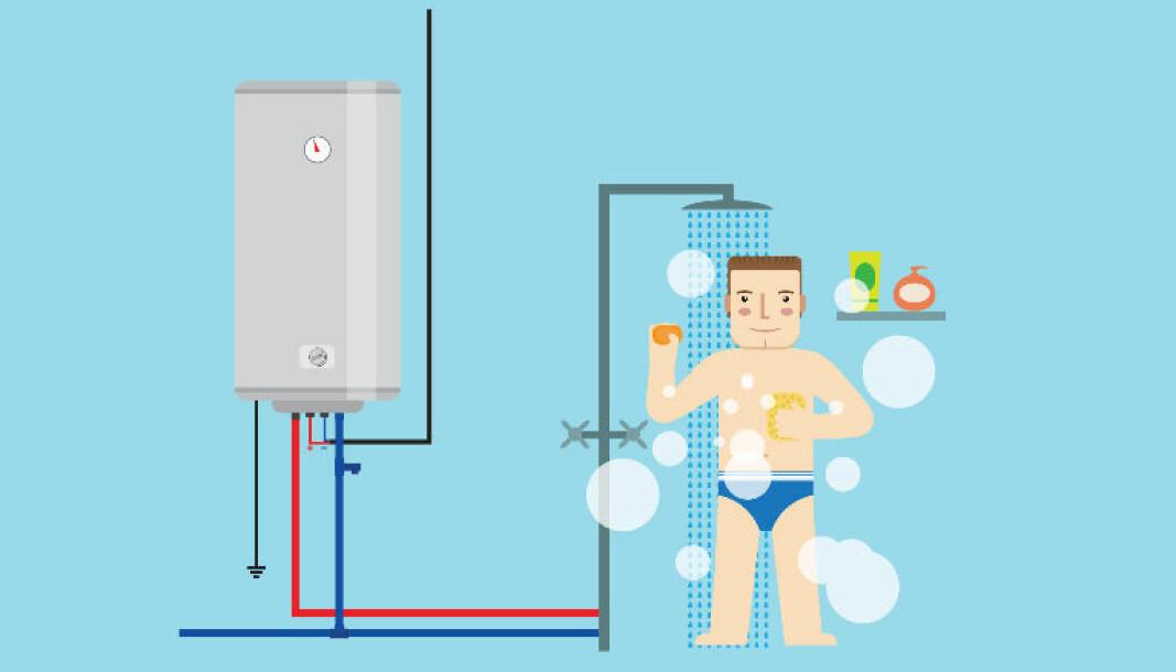 Når du flytter inn i ei hytte som har stått lenge ubrukt og skrur på dusjen, risikerer du å puste legionellabakterier inn i lungene.
