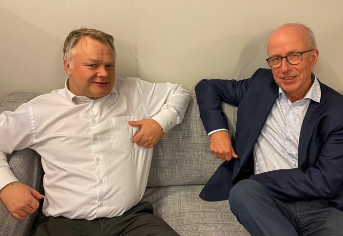 Are Jerstad fra SMB Norge og Jan Eigil Rydningen fra Orgbrain.