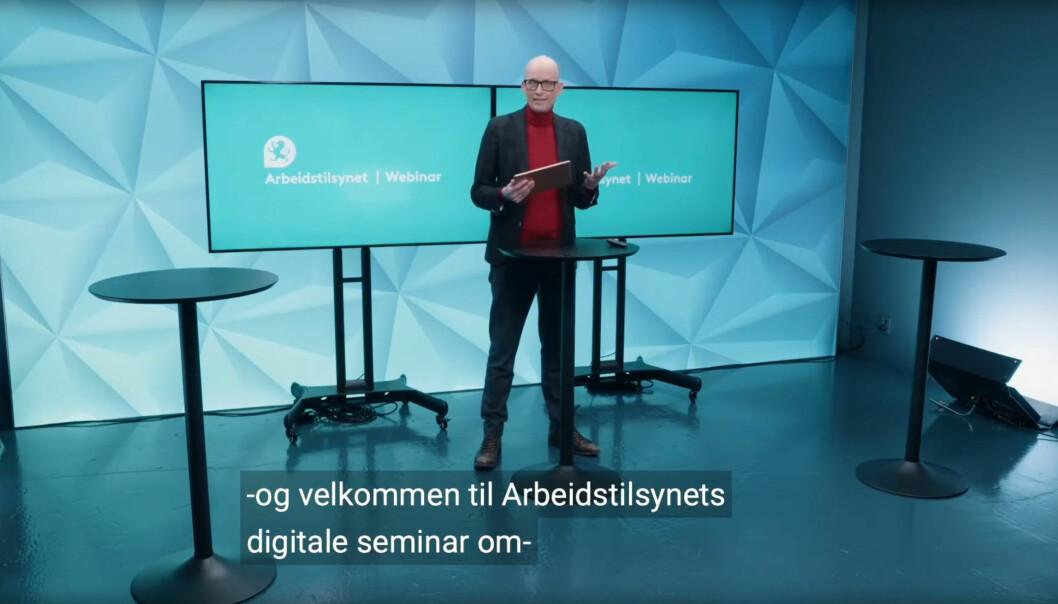 Erik Aasheim ledet Arbeidstilsynets webinar som ble avholdt 5. februar 2021 og nå kan ses på Youtube.