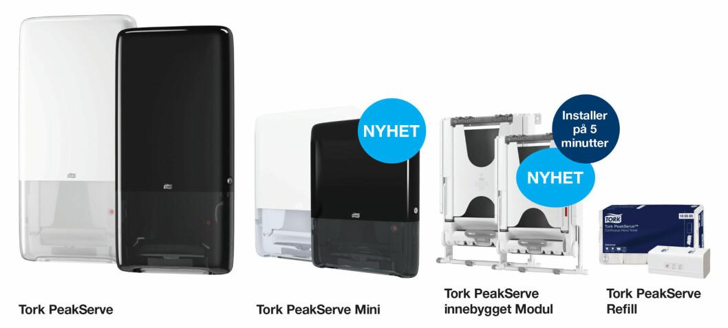 De nye modellene i PeakServe-serien.
