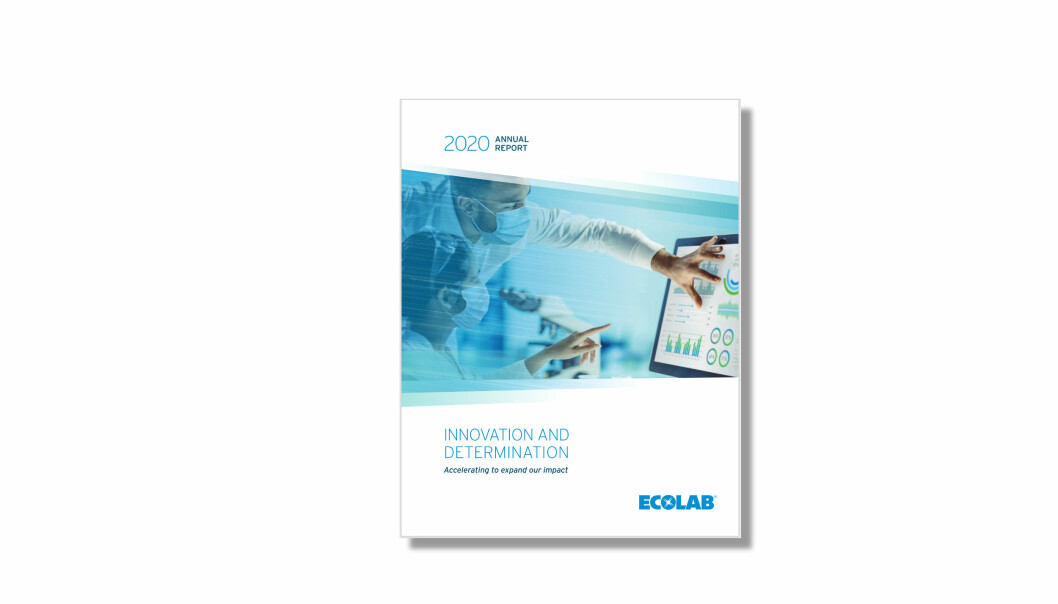 Årsomsetningen falt i det globale Ecolab-konsernet fra 2019 til 2020, selv om salget av blant annet desinfeksjonsmidler steg til det mangedobbelte.