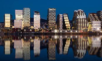 Oslos kontorbehov kan falle med en halv million kvadratmeter