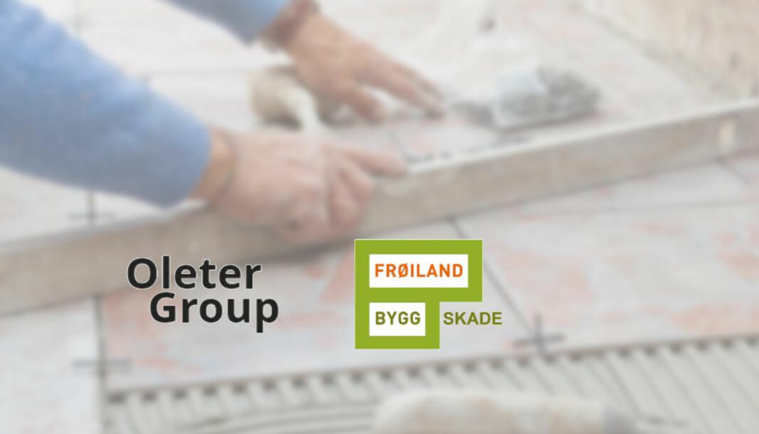 Svenske Oleter Group og norske Frøiland Bygg Skade går sammen innenfor skadeservice.