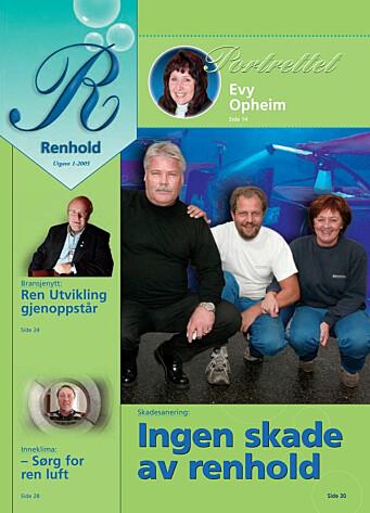 Forsiden til Renholdsnytt nr. 1/2005.