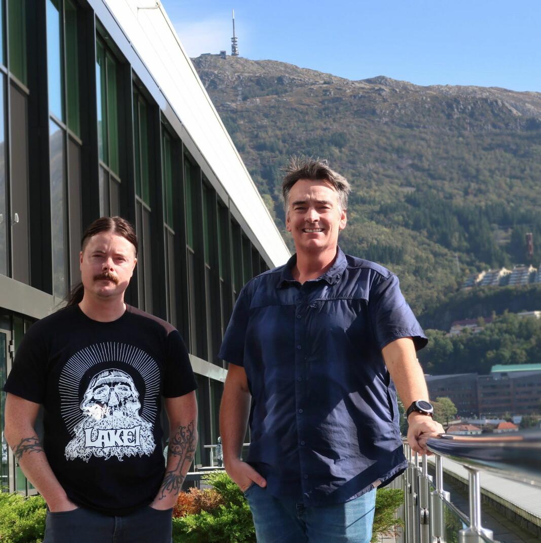 Styreleder Arne Longvastøl og daglig leder Stig W. Sætre i Bergen Renhold.