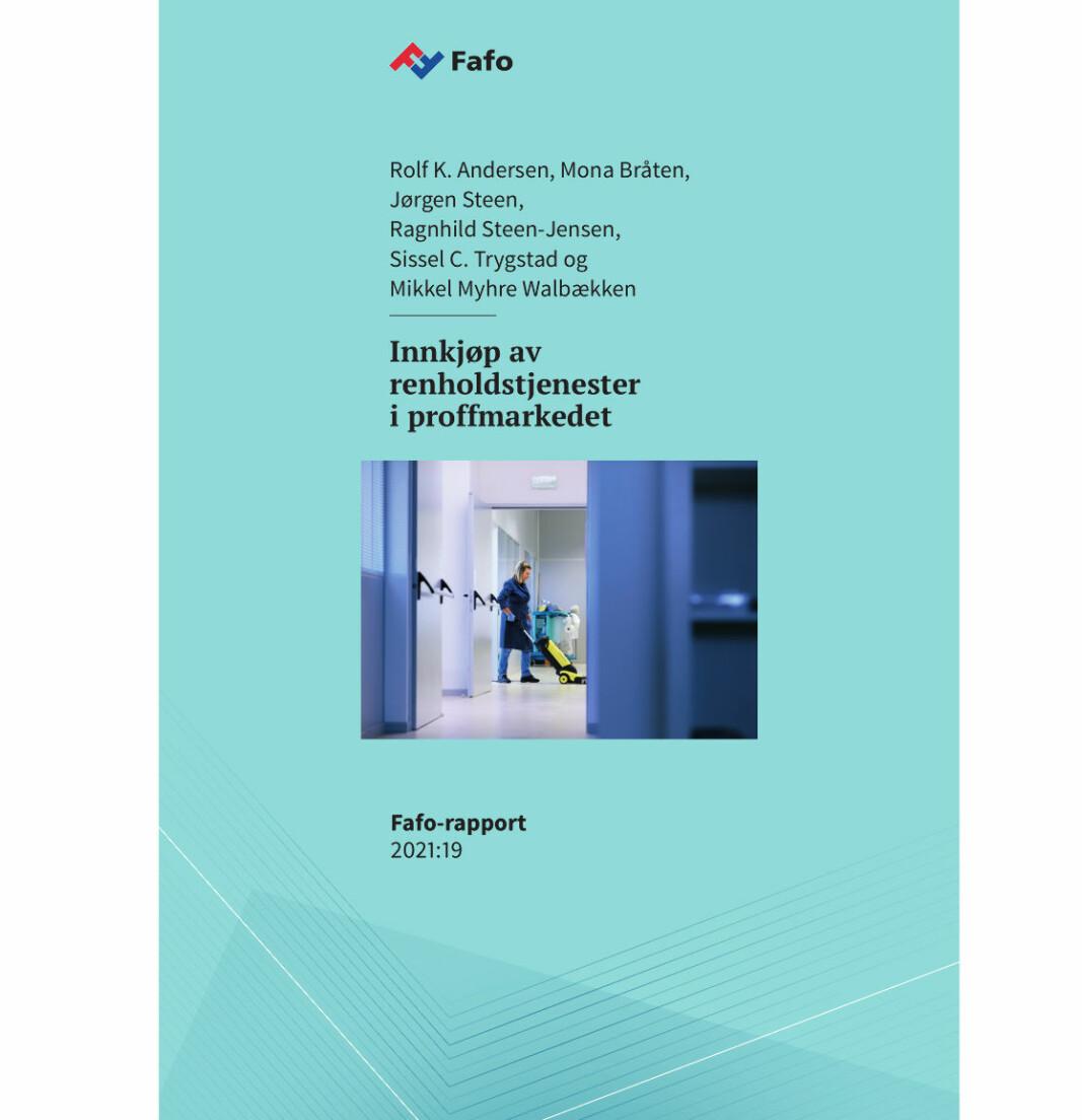 Fafo har utarbeidet en grundig rapport om «ståa» blant de som kjøper inn renholdstjenester til offentlig og privat sektor.