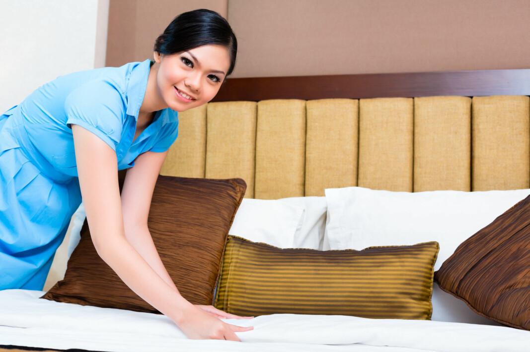 Sensorene er blant annet plassert i sengetøyet, og rapporterer om renholderen har utført jobben med dem.