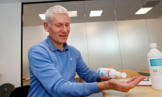 Vant sykehusanbud med sprit-løs hånddesinfeksjon