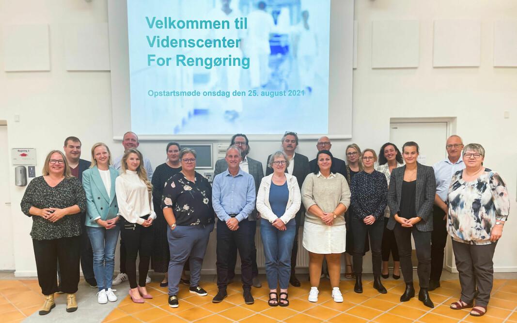 Fra det første møtet i «Videnscenter For Rengøring», der det deltok 20 sentrale virksomheter og bransjeorganisasjoner.