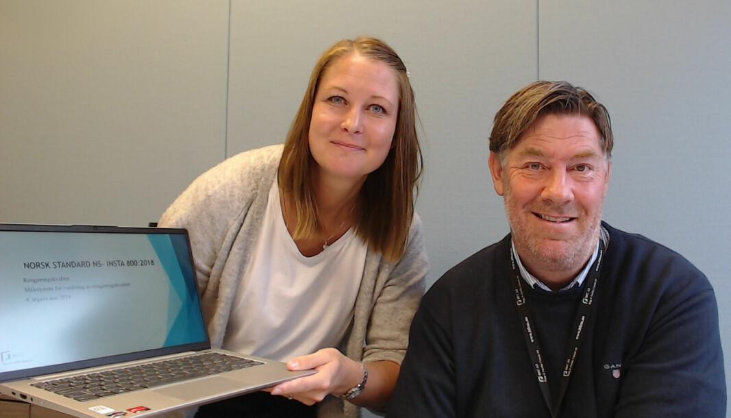 Lena Furuberg og Georg Blomberg i Bygg & Facility Consult tilbyr nå nettbasert klasseromsundervisning som en del av flere av sine nettkurs.